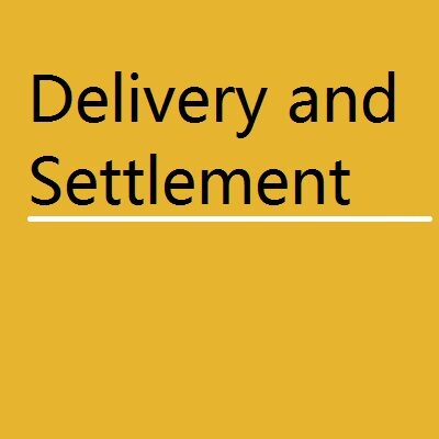 BANK Delivery and Settlement 400x400